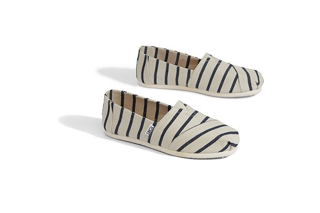 Venice Collection Alpargata Women's - White/Navy Riviera Stripes