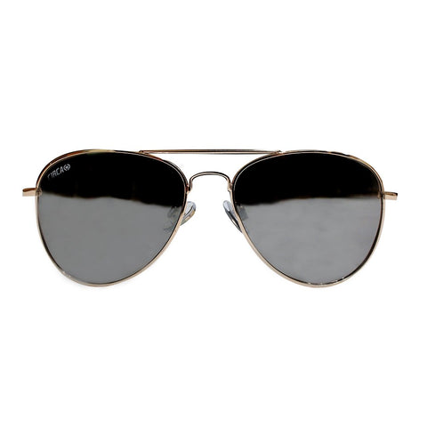 Aviator 2 Thin Frame Eyewear - Gold / Brown