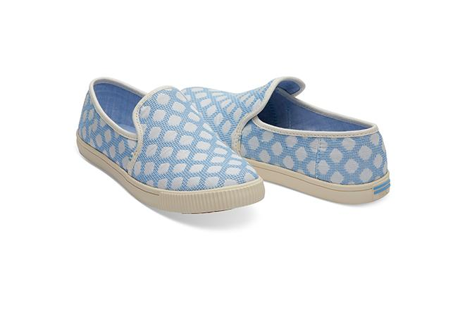 Clemente Slip-Ons - Bliss Blue Dots