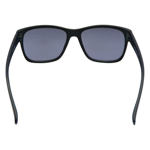 Square Wide Frame Plain Eyewear - Black
