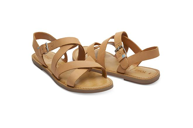Sicily Sandals - Honey Leather