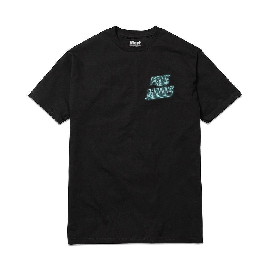 Free Minds Neon Tee - Black