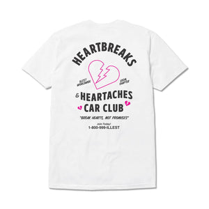 Heartbreaks And Heartaches - White