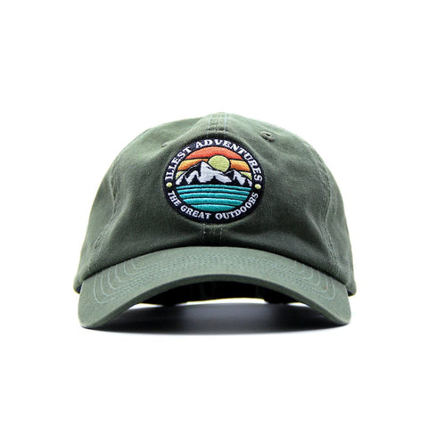 Great Outdoors Dad Cap - Military Green
