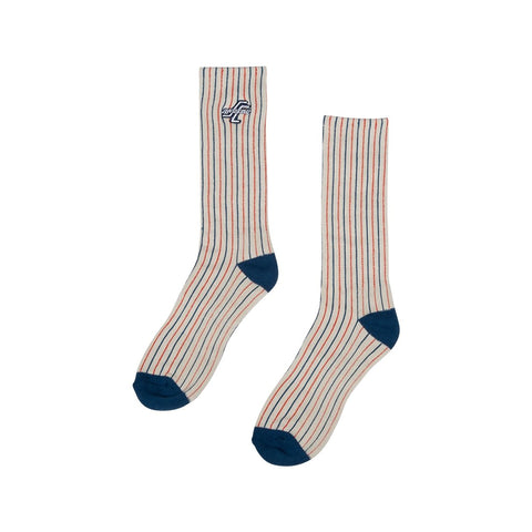 OG Striped Crew Socks - Grey Stripe