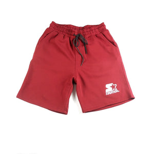 JOGGER SHORTS WITH EMBRO - RED