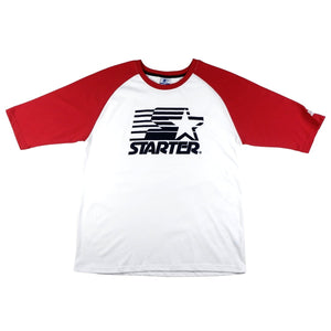 REGULAR RAGLAN STARTER FLOCK PRINT - WHITE