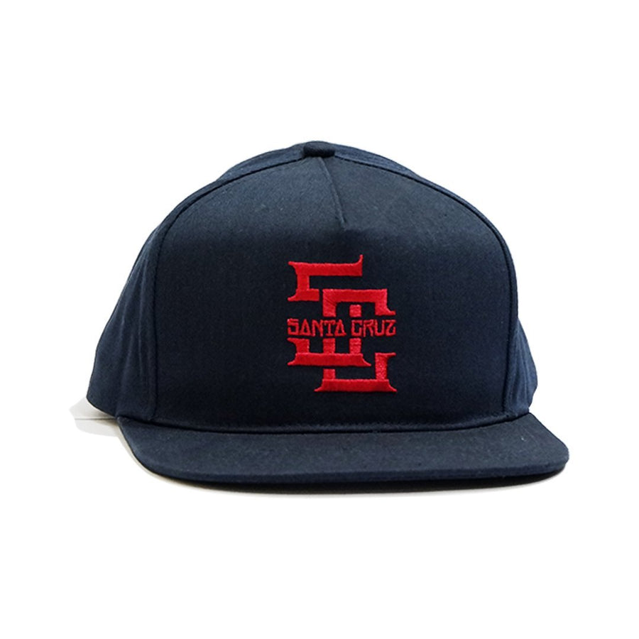 Edge Block Snapback - Navy