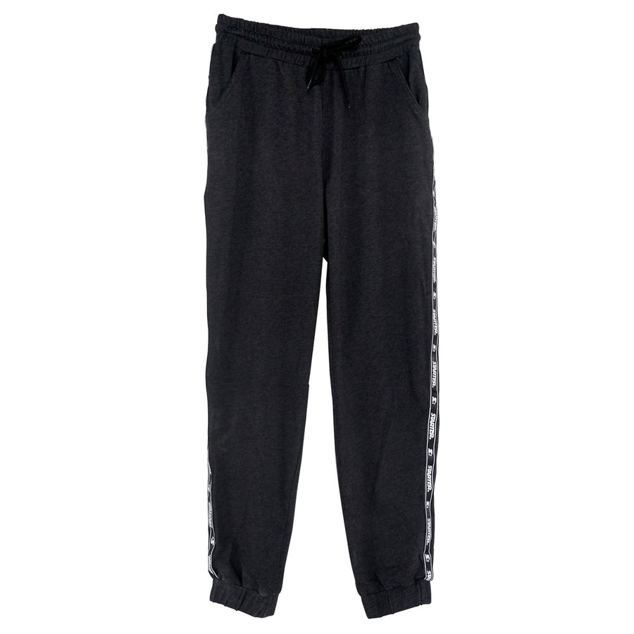 Jogger Pants with Side Taping - Black