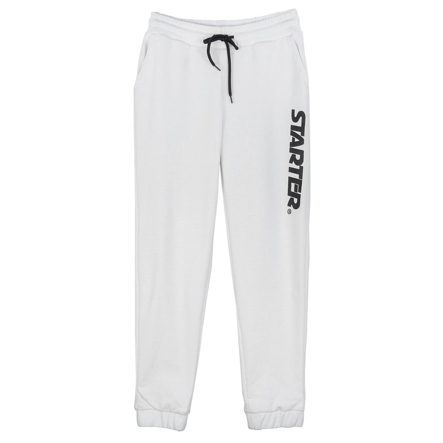 Jogger Pants with Print - White