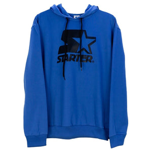 Hoodie with Embro Design - Royal Blue