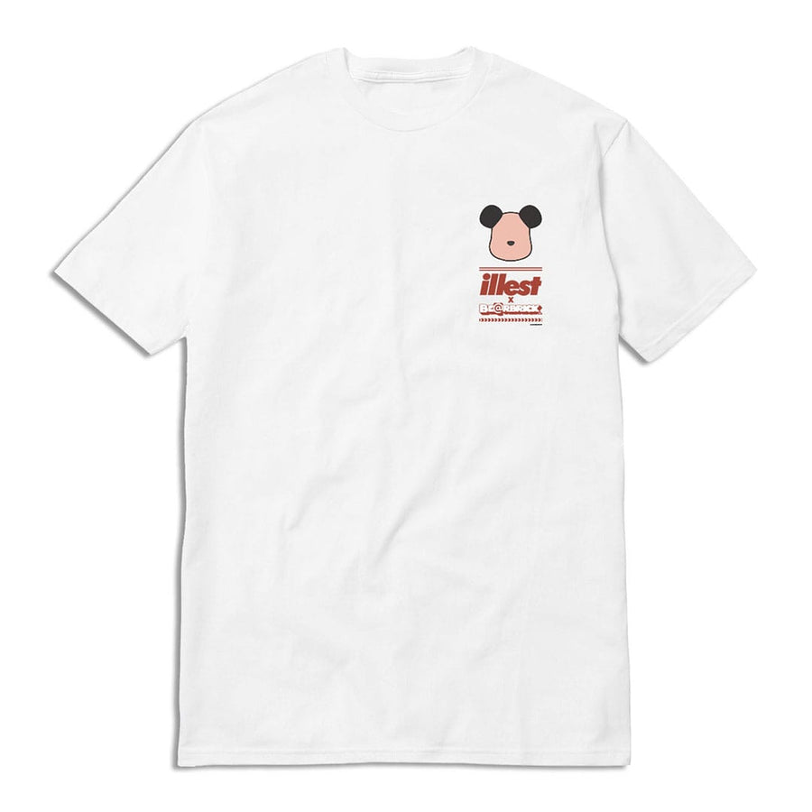 Illest Pig Bear Brick Scale Tee - White