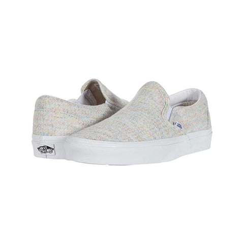 Classic Slip-On - (Rainbow Jersey) Multi/True White