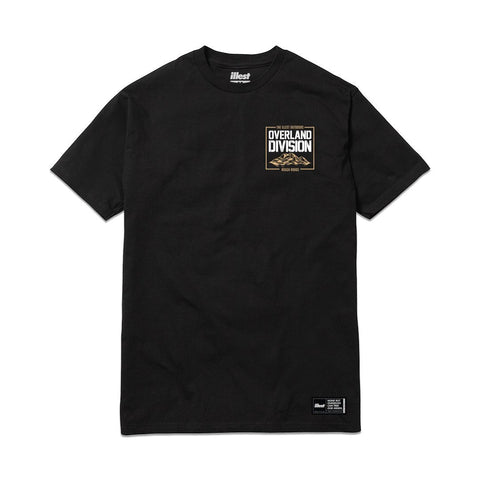 Overland Division Rough Roads Tee - Black