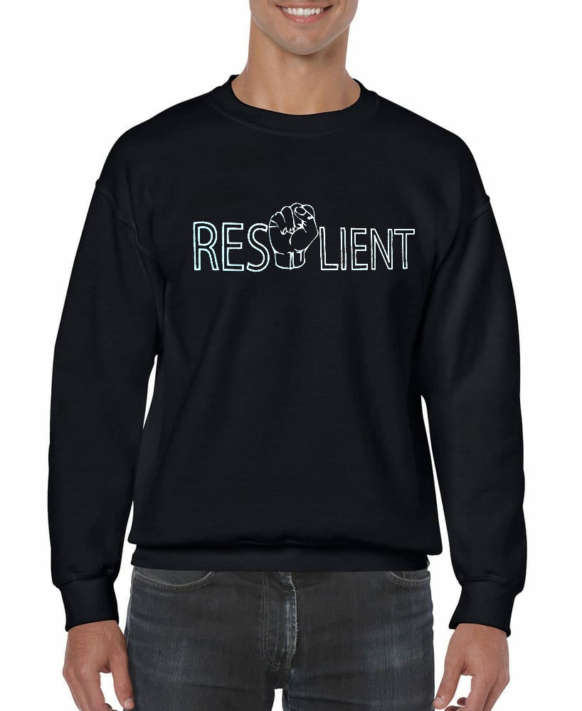 Resilient Crewneck sweatshirt front only design