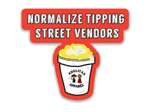 Normalize Tipping Street Vendors vinyl sticker