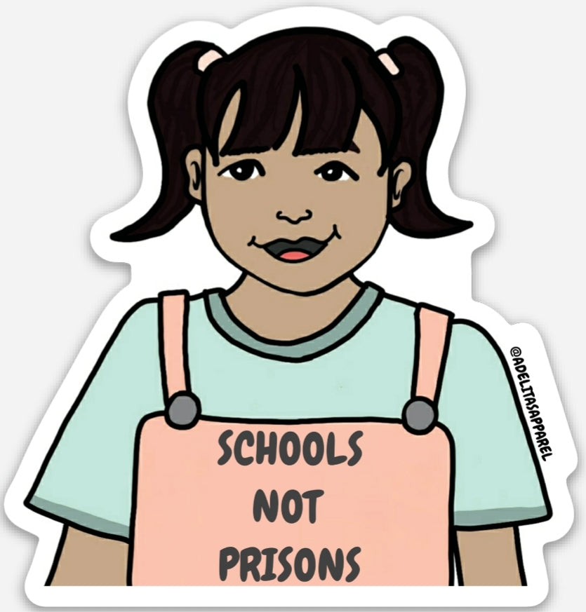 Schools not Prisons vinyl sticker