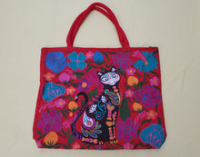 Load image into Gallery viewer, Gatito cat Embroided Shoulder Bag