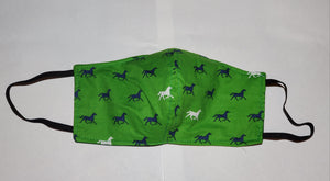 Green horse face mask