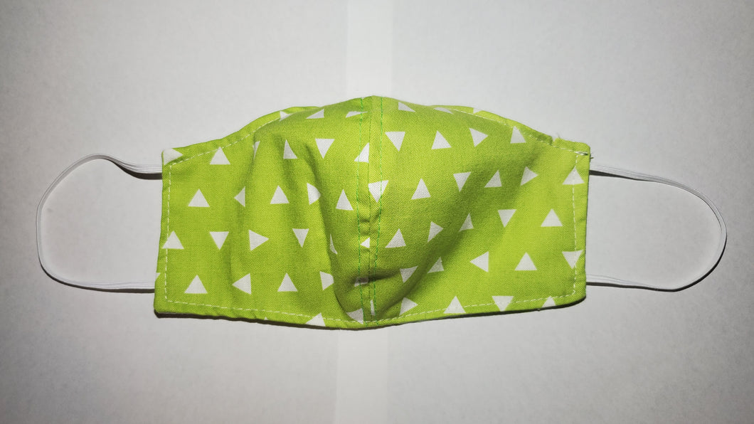 Green triangles face mask