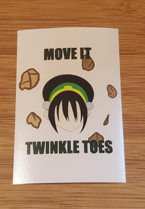 Move it twinkle toes ATLA Avatar print