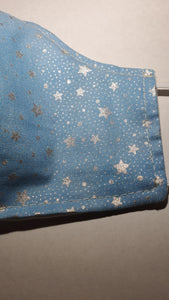 Blue Sparkling Stars face mask
