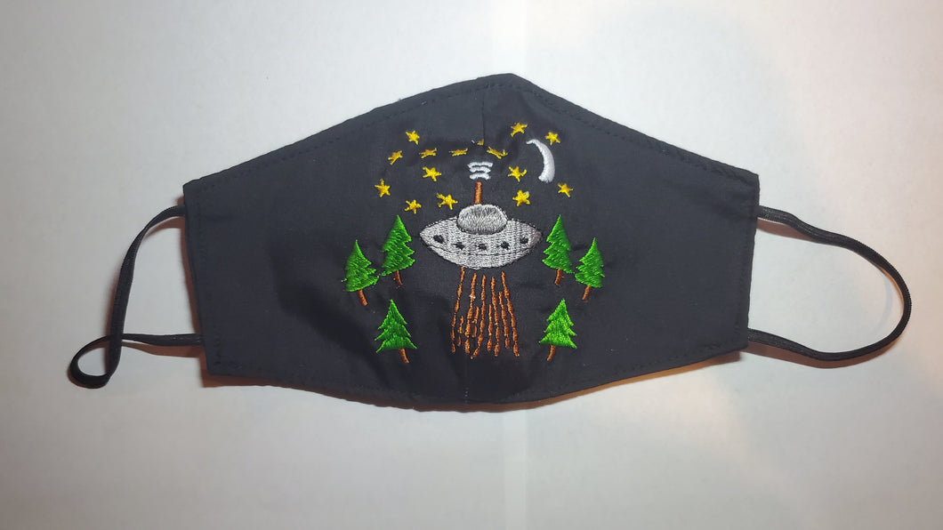 Embroided UFO camp face mask