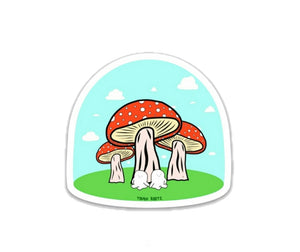 Marshmellow Mushrooms Sticker