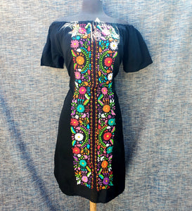 Embroided hand embroided dress