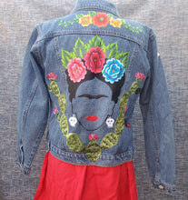 Load image into Gallery viewer, Frida con nopal Jean Jacket