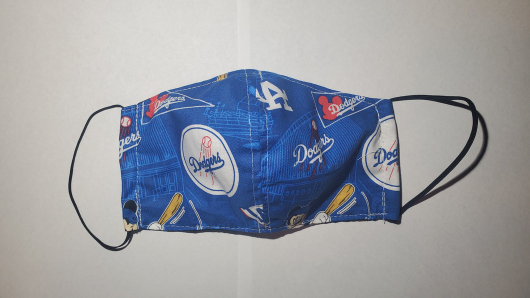 Dodgers face mask