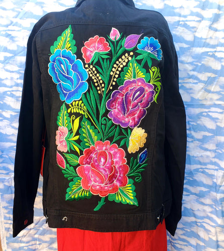 Floral embroided Floreado Jean Jacket 2xl