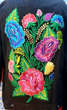 Load image into Gallery viewer, Floral embroided Floreado Jean Jacket 2xl