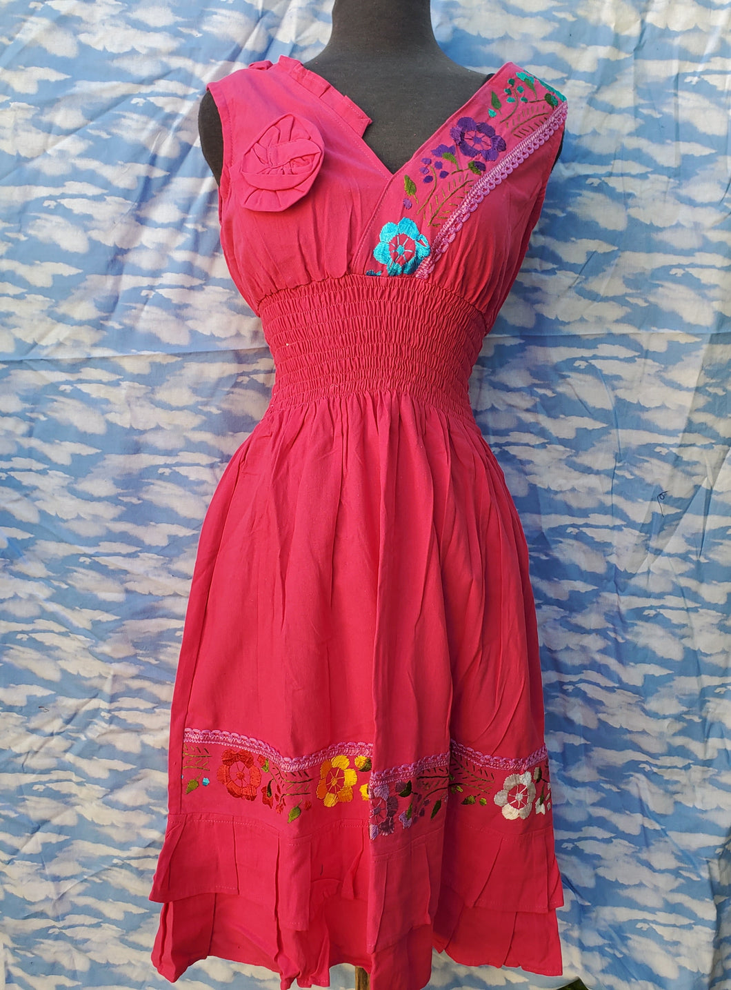 Pink Embroided Dress