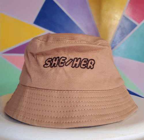 She/Her pronoun Bucket Hat