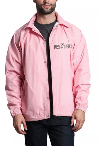 Pink Resilient Windbreaker - Front & Back design