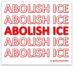 Abolish ICE vinyl die-cut sticker