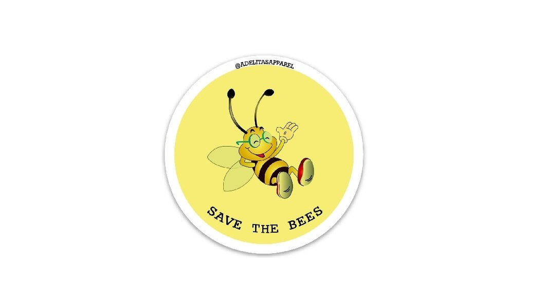 Save The Bees vinyl sticker