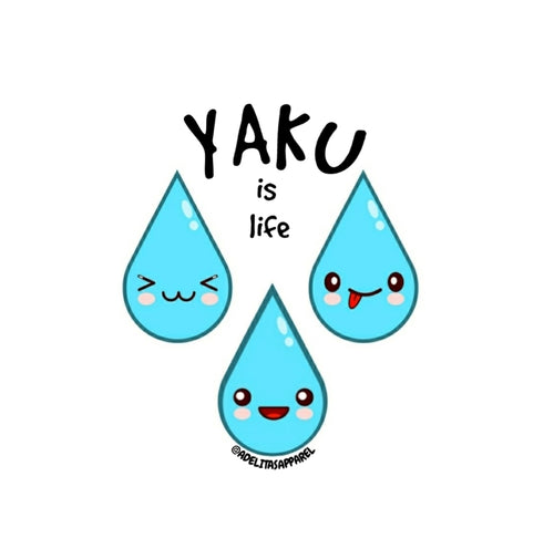 YAKU (water) is life vinyl sticker
