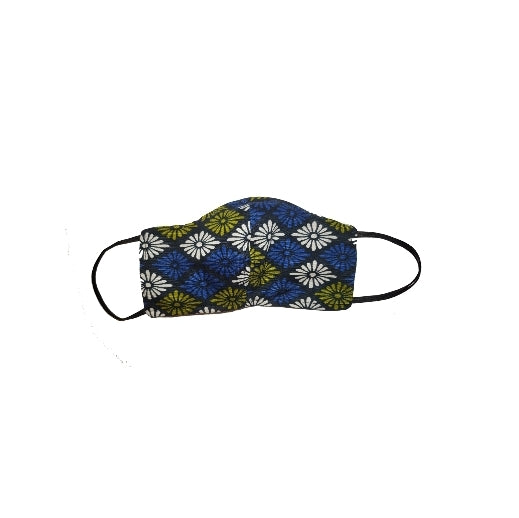 Blue Geometric colorful face mask