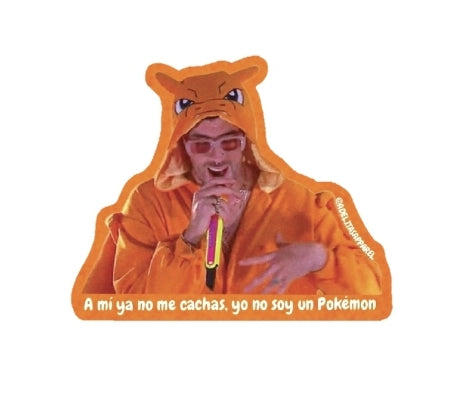 Bad Bunny yo no soy un pokemon lyrics vinyl sticker