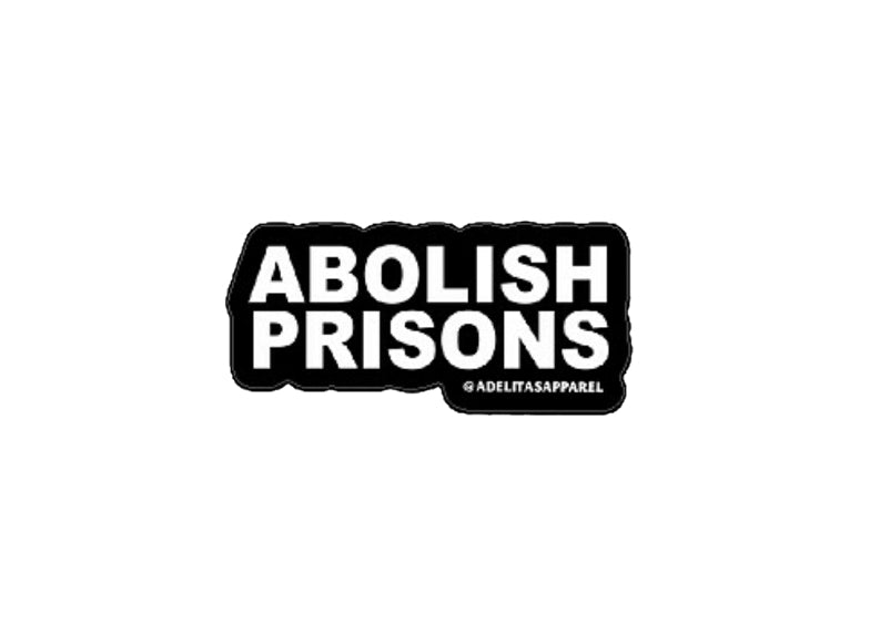 Abolish Prisons vinyl die-cut sticker