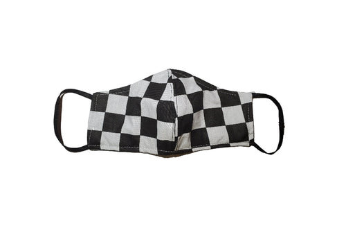Checkered face mask