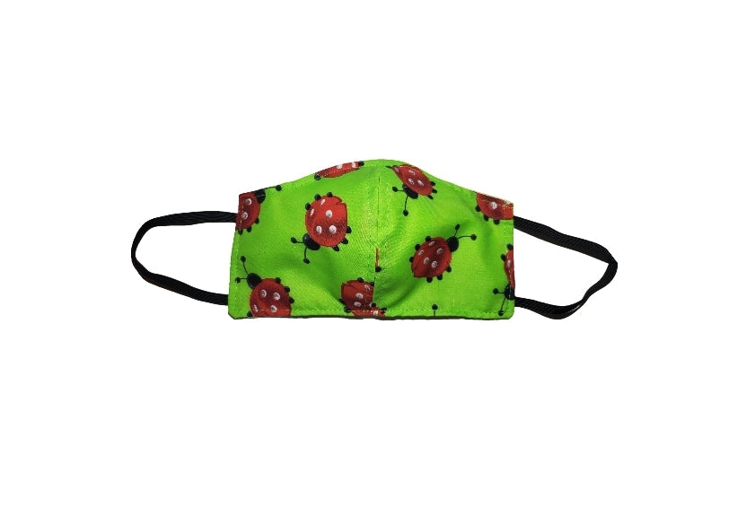 Green Lady Bugs face mask