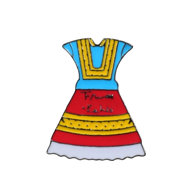 Frida Kahlo Dress Pin