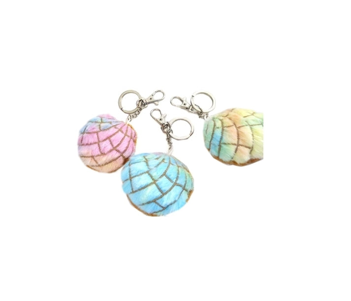 Rainbow Concha Key Chain