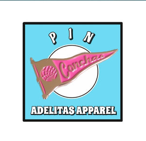 Conchas Flag Pink Pin