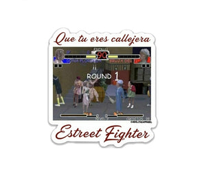 Estreet Fighter vinyl die-cut sticker