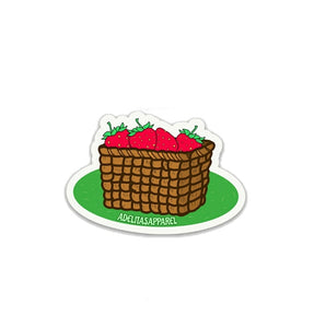 Strawberry Strawberries Sticker