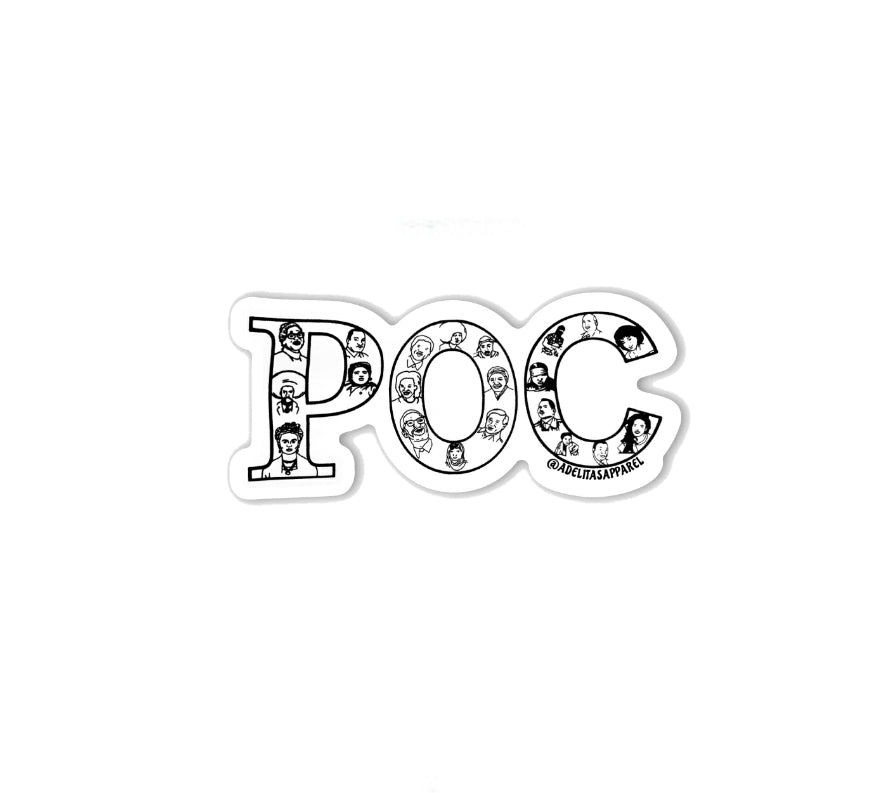 POC vinyl die-cut sticker